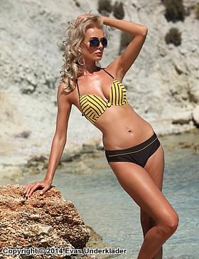 Bikini-set med randig topp
